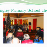 Langley Primary School choir in the church